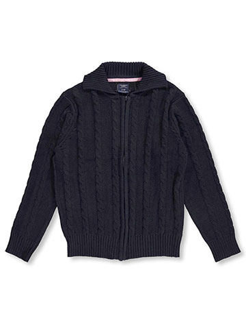 "U.S. Polo Assn. Big Girls' ""Cable Comfort"" Cardigan (Sizes 7 – 16) - CookiesKids.com"