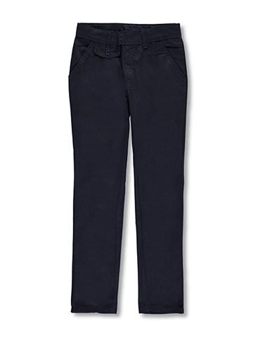 Genuine Girls' Flat Front Uniform Pants - CookiesKids.com