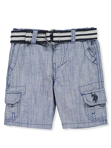 U.S. Polo Assn. Baby Boys' Belted Cargo Shorts - CookiesKids.com