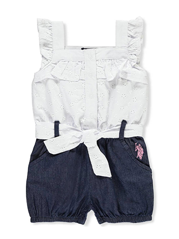 U.S. Polo Assn. Baby Girls' Romper - CookiesKids.com