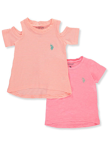 U.S. Polo Assn. Baby Girls' 2-Pack T-Shirts - CookiesKids.com
