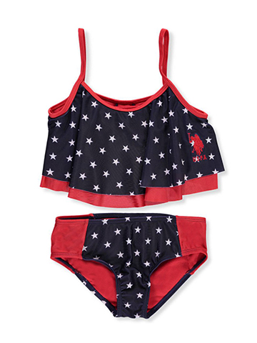 U.S. Polo Assn. Girls' 2-Piece Bikini - CookiesKids.com