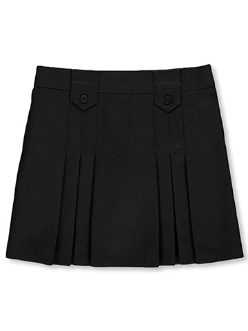 French Toast Little Girls' Pleat & Tab Skirt (Sizes 4 – 6X) - CookiesKids.com