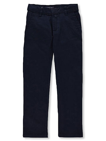 French Toast Big Boys' Pleated Wrinkle No More Double Knee Pants (Sizes 8 - 20) - CookiesKids.com