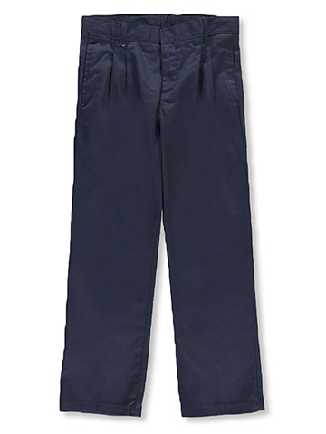 French Toast Big Boys' Plus Size Wrinkle No More Relaxed Fit Pants - CookiesKids.com