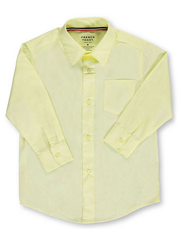 French Toast Little Boys' L/S Button-Down Shirt (Sizes 4 - 7) - CookiesKids.com