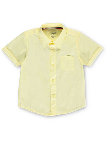 French Toast Little Boys' S/S Button-Down Shirt (Sizes 4 - 7) - CookiesKids.com