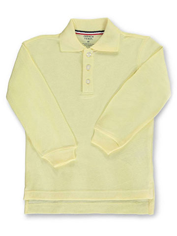 French Toast Unisex L/S Pique Polo (Sizes 2T – 7) - CookiesKids.com
