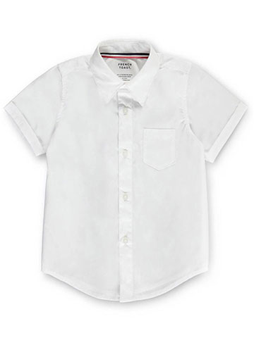French Toast Unisex S/S Button-Down Shirt (Sizes 8 - 20) - CookiesKids.com