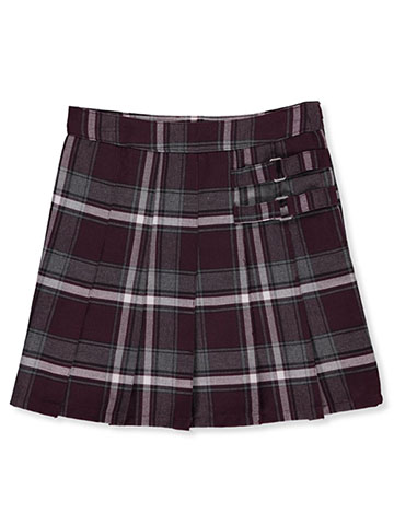 "French Toast Big Girls' ""Buckled"" Plaid Scooter Skirt (Sizes 7 – 20) - CookiesKids.com"