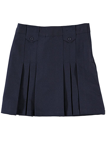 French Toast Big Girls' Plus Pleat and Tab Skirt - CookiesKids.com