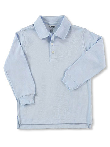 French Toast Unisex L/S Knit Polo Shirt (Sizes 4 - 7) - CookiesKids.com