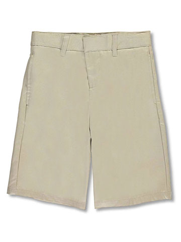 French Toast Unisex Flat Front  Twill Shorts with Adjustable Waist (Sizes 8 - 20) - CookiesKids.com