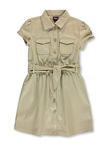 "French Toast Big Girls' ""Safari Classic"" Belted Dress (Sizes 7 – 16) - CookiesKids.com"