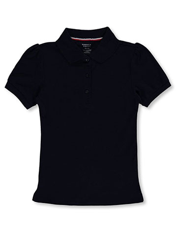 "French Toast Little Girls' ""Top Marks"" S/S Pique Polo (Sizes 4 – 6X) - CookiesKids.com"