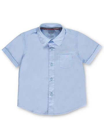 French Toast Little Boys' Toddler S/S Button-Down Shirt (Sizes 2T - 4T) - CookiesKids.com