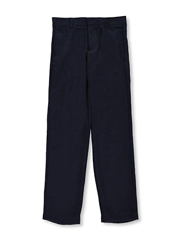 French Toast Big Boys' Flannel Flat Front Pants (Sizes 8 – 20) - CookiesKids.com