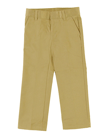 French Toast Big Boys' Flat Front Slim Fit Double Knee Pants - CookiesKids.com