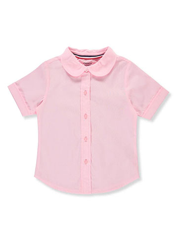 French Toast Little Girls' S/S Peter Pan Fitted Shirt (Sizes 4 - 6X) - CookiesKids.com