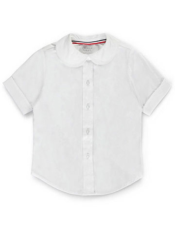 30035f12eaf3b French Toast Big Girls' S/S Peter Pan Fitted Shirt (Sizes 7 -