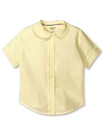 French Toast Big Girls' S/S Peter Pan Fitted Shirt (Sizes 7 - 20) - CookiesKids.com