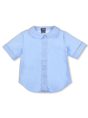 French Toast Big Girls' Plus S/S Peter Pan Fitted Shirt - CookiesKids.com
