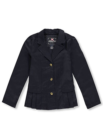 French Toast Big Girls' Twill Blazer (Sizes 7 - 18) - CookiesKids.com