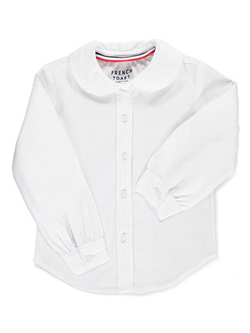 French Toast Little Girls' Toddler L/S Peter Pan Blouse (Sizes 2T – 4T) - CookiesKids.com