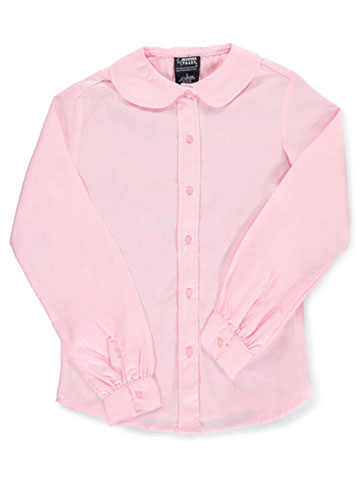 French Toast Big Girls' L/S Peter Pan Blouse (Sizes 7 - 20) - CookiesKids.com