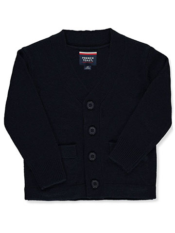 French Toast Little Boys' Toddler Welt Pocket Cardigan (Sizes 2T - 4T) - CookiesKids.com