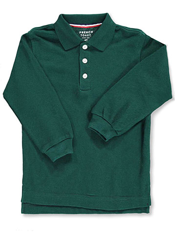 French Toast Unisex L/S Pique Polo (Sizes 2T – 4T) - CookiesKids.com