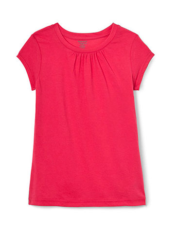French Toast Baby Girls' Ruched Crewneck T-Shirt - CookiesKids.com