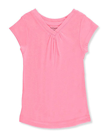 French Toast Baby Girls' Ruched V-Neck T-Shirt - CookiesKids.com