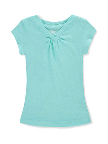 French Toast Girls' Ruched V-Neck T-Shirt - CookiesKids.com