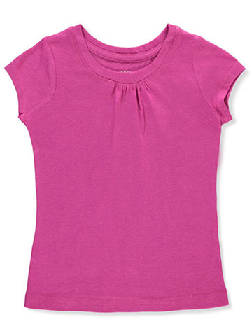 "French Toast Little Girls' Toddler ""Ruched Crewneck"" T-Shirt (Sizes 2T – 4T) - CookiesKids.com"