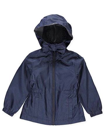 "French Toast Little Girls' ""Spotty Lined"" Rain Jacket (Sizes 4 – 6X) - CookiesKids.com"