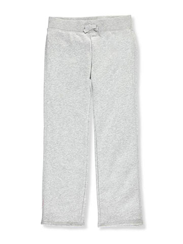 French Toast Big Girls' Straight Leg Fleece Sweatpants (Sizes 7 – 16) - CookiesKids.com