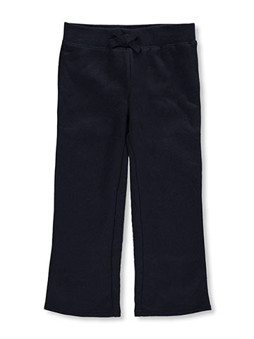French Toast Little Girls' Straight Leg Fleece Sweatpants (Sizes 4 – 6X) - CookiesKids.com