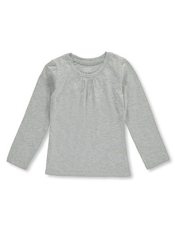 French Toast Girls' Ruched L/S V-Neck T-Shirt - CookiesKids.com