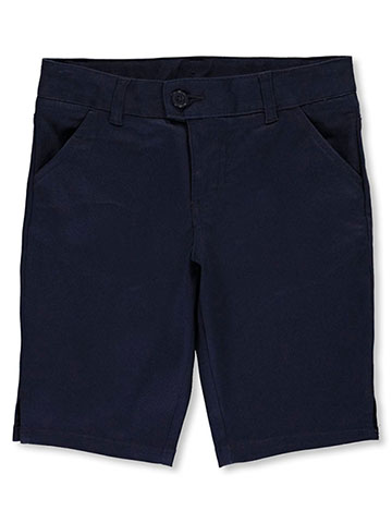French Toast Little Girls' Flat Front Twill Bermuda Shorts (Sizes 4 – 6X) - CookiesKids.com