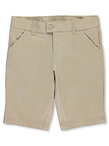 French Toast Big Girls' Flat Front Twill Bermuda Shorts (Sizes 7 – 20) - CookiesKids.com