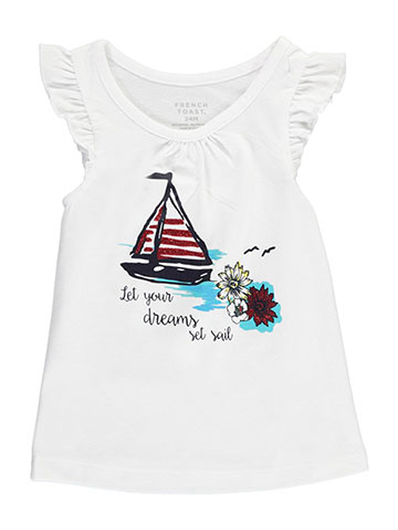 "French Toast Baby Girls' ""Flutter Sleeve"" Top - CookiesKids.com"