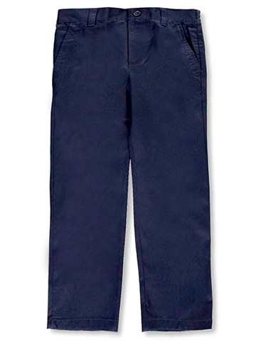 French Toast Big Boys' Flat Front Wrinkle No More Relaxed Fit Pants (Sizes 8 – 20) - CookiesKids.com