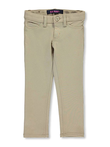 French Toast Little Girls' Pointelle Jegging Skinny Pants (Sizes 4 – 6X) - CookiesKids.com