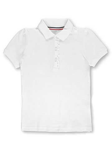 French Toast Little Girls' Toddler S/S Ruffle Pique Polo (Sizes 2T – 4T) - CookiesKids.com