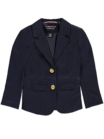 French Toast Big Girls' Princess Seam Blazer (Sizes 7 – 20) - CookiesKids.com