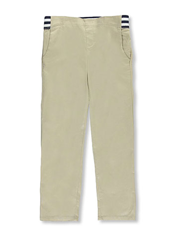 French Toast Little Girls' Pull-On Contrast Waist Pants (Sizes 4 – 6X) - CookiesKids.com