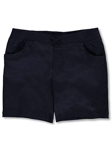 French Toast Big Girls' Plus Wrinkle No More Pull-On Tie-Front Shorts (Sizes 10.5 – 20.5) - CookiesKids.com