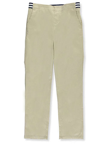 French Toast Big Girls' Plus Size Pull-On Contrast Waist Pants (Sizes 10.5 – 20.5) - CookiesKids.com