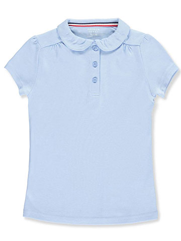 French Toast Little Girls' Toddler S/S Peter Pan Collar Polo (Sizes 2T – 4T) - CookiesKids.com